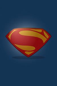 480x854 Superman Clean Logo Minimal 5k