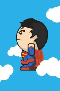1440x2960 Superman Clouds Minimal 4k