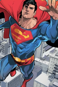 320x568 Superman Comic Artwork 4k