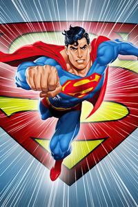 480x854 Superman Dc Comic Minimal 5k