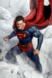 480x800 Superman Endless Winter 4k