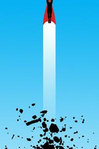 1080x1920 Superman Fly Art