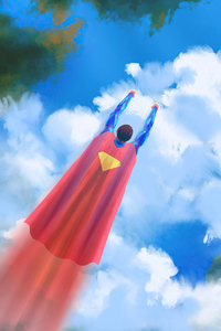 480x854 Superman Fly By