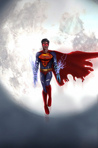 Superman Flying 4k