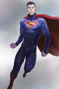480x800 Superman Flying Art
