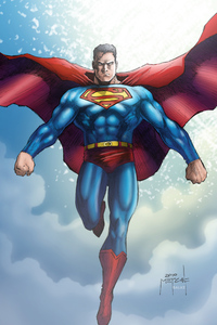 Superman Flying Artwork