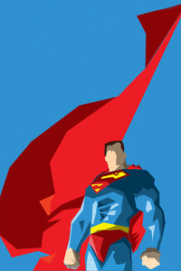 1440x2960 Superman Flying Cape Artwork