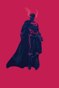 Superman Flying Minimalism