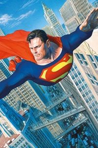 480x800 Superman Flying New Art