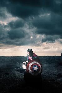 Superman Holding Mjolnir And Captain America Shield 4k