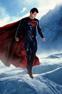 Superman Ice Mountains 4k
