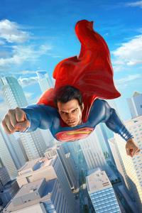 1440x2960 Superman In City 4k