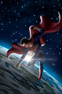 640x960 Superman In Space