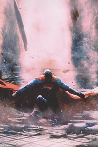 1280x2120 Superman Justice League Artwork 4k
