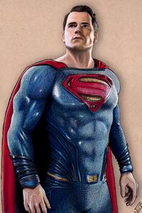 320x568 Superman Justice League Fan Art