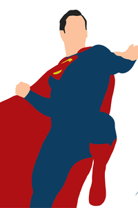 1242x2688 Superman Justice League Minimalism