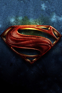 640x960 Superman Logo Art 4k