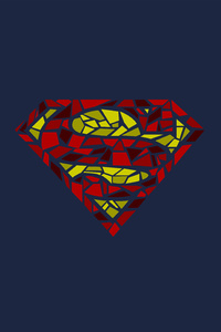 1440x2960 Superman Logo Artwork