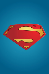 1440x2560 Superman Logo Minimal