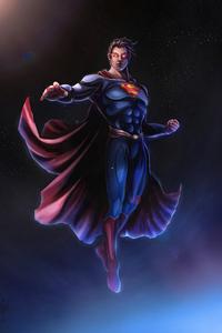 720x1280 Superman Man Of Steel Comic Art