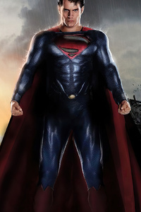 640x1136 Superman Metropolis Destruction