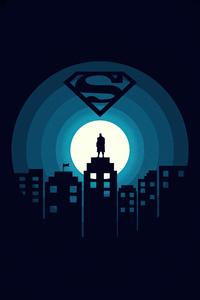 480x854 Superman Minimal Illustration 5k