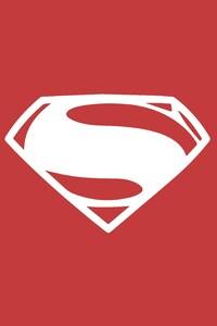 800x1280 Superman Minimalism Logo