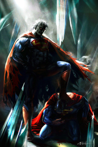 Superman On Superman Knees