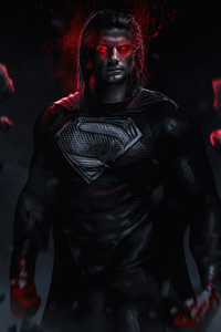 720x1280 Superman Red Eyes Glowing 4k