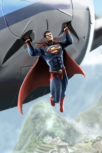 480x800 Superman Saves Jet