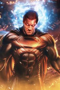 1080x2160 Superman The Man Of Tomorrow Black Suit 5k