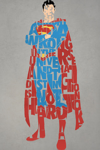 1242x2688 Superman Typography 4k