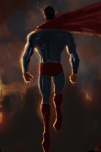 750x1334 Superman Up Artwork