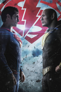 Superman Vs Black Adam 4k