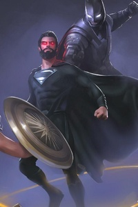 320x480 Superman Vs Justice League Artwork