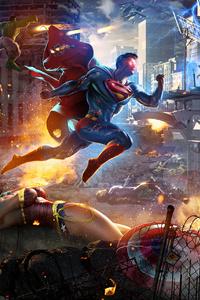 1080x1920 Superman VS Sentry