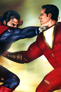 Superman Vs Shazam 4k