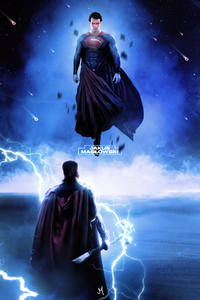 320x568 Superman Vs Thor 4k