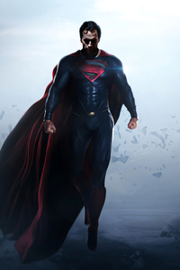 360x640 Superman X Man Of Steel 4k