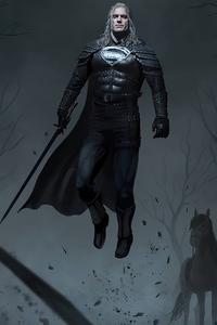Superman X Witcher 4k