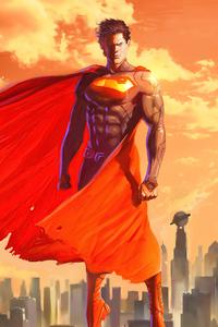 Superman Yellow Sky 4k