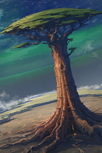 640x1136 Supertree Scifi 5k