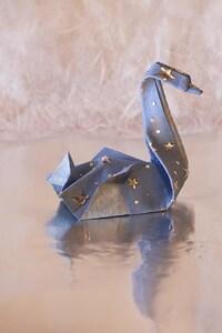 1440x2960 Swan Origami
