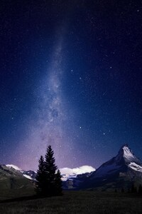 Swiss Alps Night