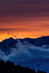 1440x2560 Swiss Sunset Mountains 5k