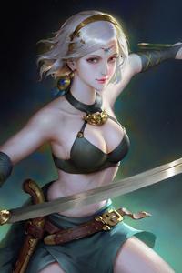 750x1334 Sword Girl4k