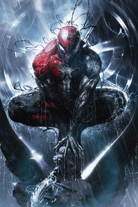 480x800 Symbiote Spiderman Comic Book Series 4k