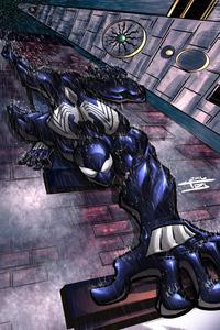 1440x2960 Symbiote Spidey Climbing Wall 4k