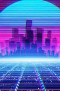 Synthwave Cityscape 4k