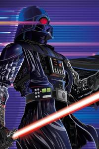 240x320 Synthwave Darth Vader